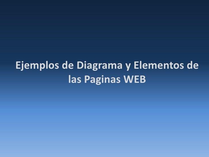 Ejemplos de Diagrama y Elementos de las Paginas WEB<br />