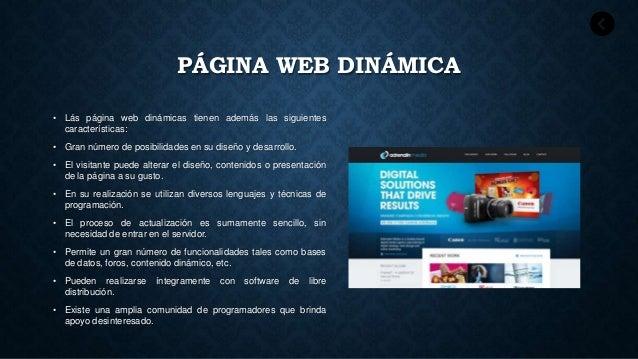 P ginas web for Que es una pagina virtual