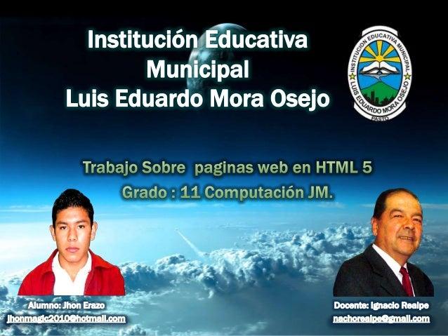 Paginas web en html 5