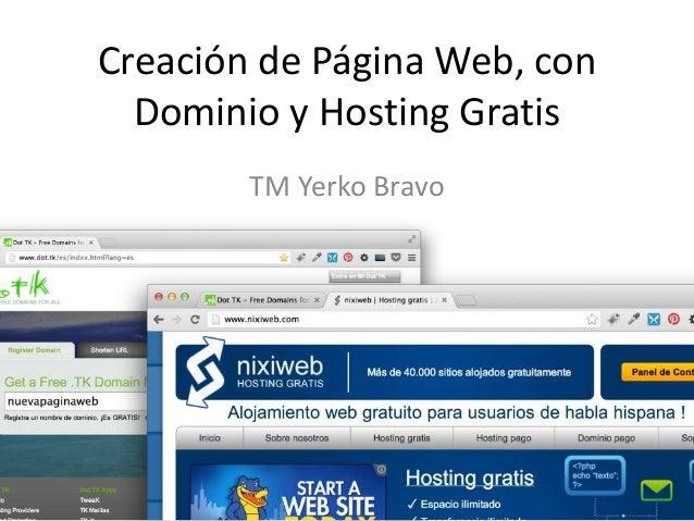 Paginas web gratis (web)