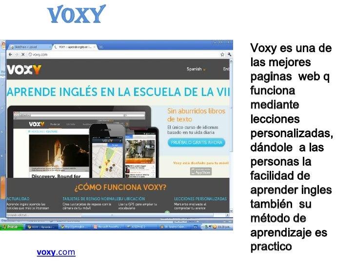página web Inglés mamada
