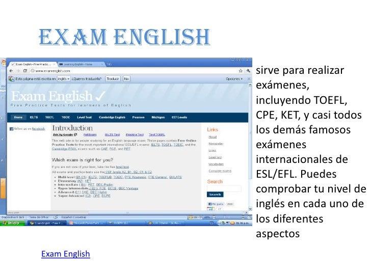 página web Inglés sexo
