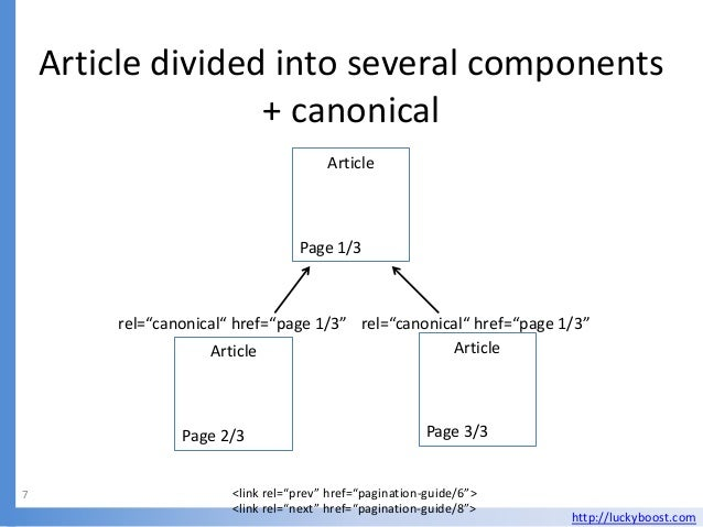 Article divided into several components                   + canonical                                       Article       ...