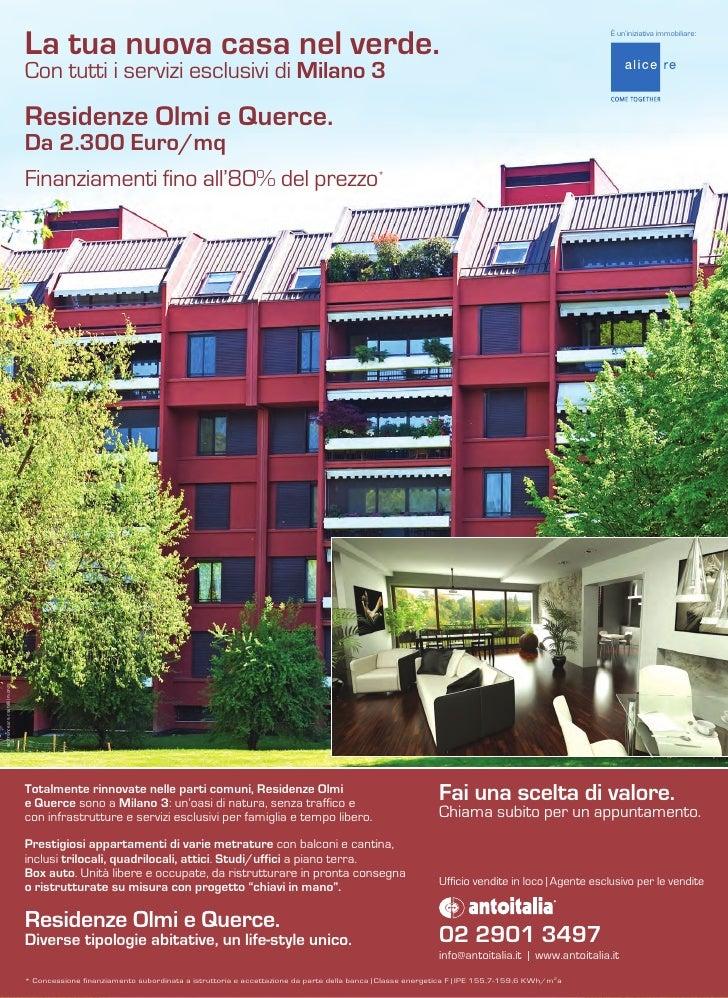 Residenze Olmi E Querce Milano 3 Antoitalia Trovocasa