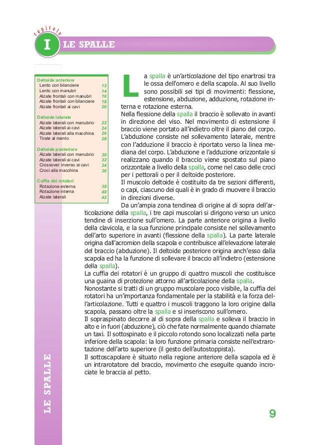 Bodybuilding:BodyBuildingAnatomy  ca  29/04/2008  12.07  Pagina 9  p it olo  I  LE SPALLE  a spalla è un'articolazione del...