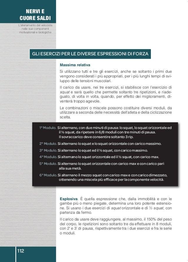 NERVI E  CUORE SALDI  L'allenamento del velocista  nelle sue componenti  motivazionali e biologiche  112  GLI ESERCIZI PER...