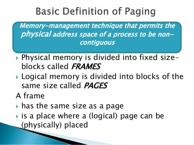 Paging and segmentation Slide 3