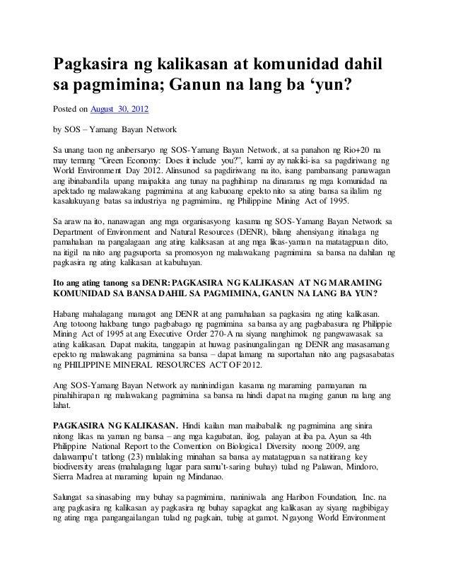 photo essay tagalog tungkol sa kapaligiran
