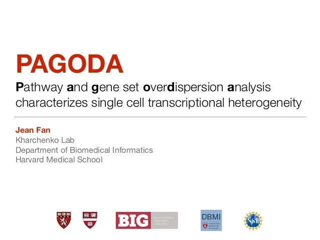PAGODA Pathway and gene set overdispersion analysis characterizes single cell transcriptional heterogeneity Jean Fan Kharc...