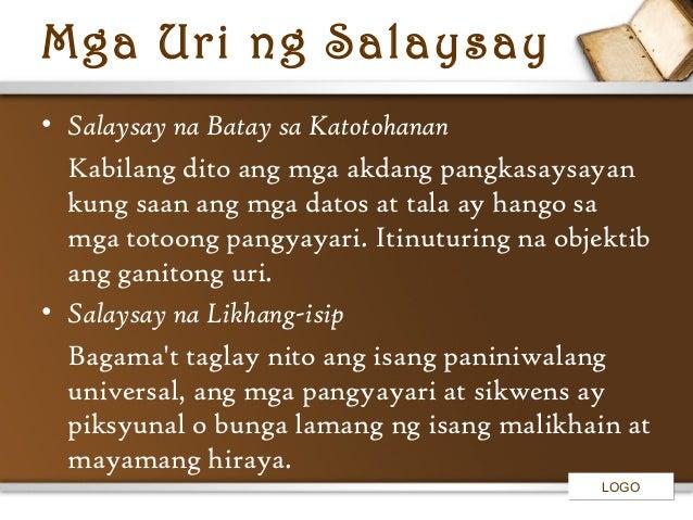 halimbawa ng salaysay ng likhang isip Mga halimbawa ng pang-ugnay:  pagsasalaysay na likhang-isip –  tagpuan – pook at panahon ang ipinakakahulugan ng tagpuan sa salaysay e) .