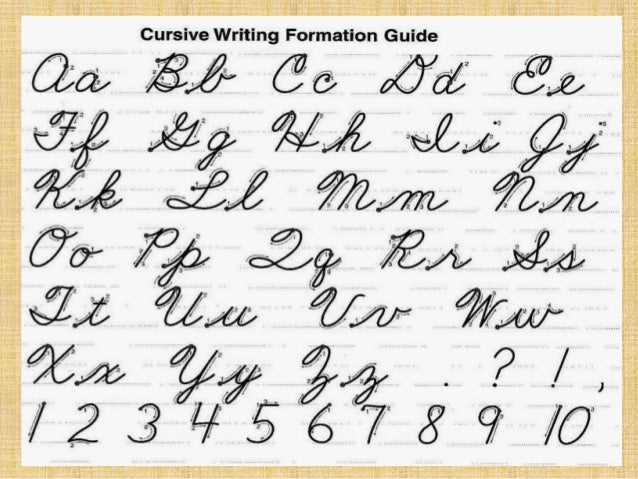 What Is Cursive Writing In Tagalog