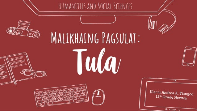Malikhaing Pagsulat: Tula Humanities and Social Sciences