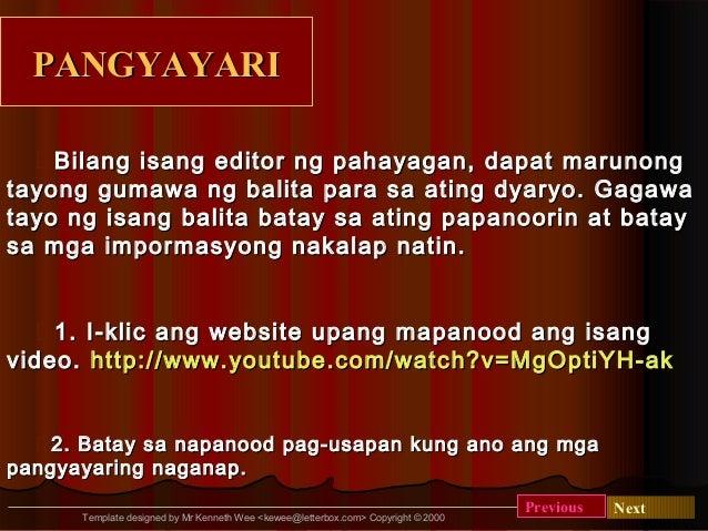 Pagsulat ng balta for Ng include ng template