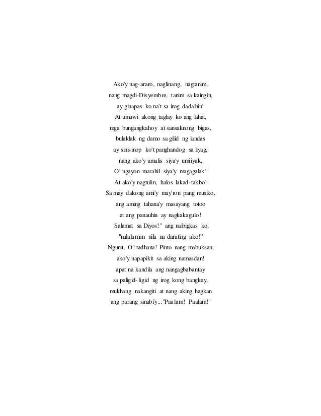 kalagayan ng tulang pilipino sa panahon ng himagsikan Tulang bayan introduksiyon ang tulang pilipino, sariling atin o hiram na panitikan ang kasaysayan ng tulang pilipino ay nababahagi sa limang importanteng mga panahon.