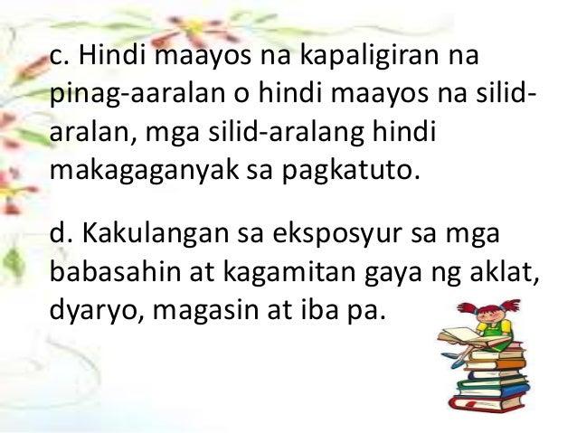 kahinaan sa pagbasa Start studying modyul 2: pagkilala sa iba't ibang akademikong sulatin learn vocabulary, terms, and more with flashcards, games, and other study tools.