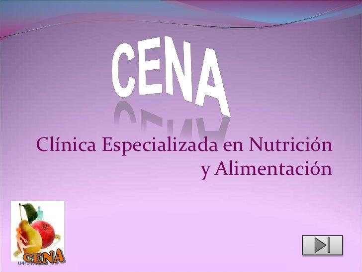 Clínica Especializada en Nutrición                          y Alimentación    04/01/1980