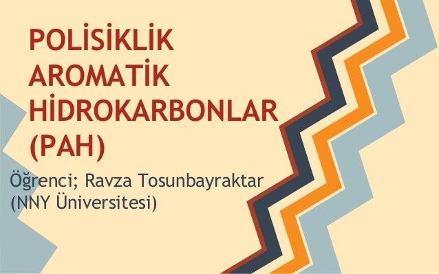 POLİSİKLİK AROMATİK HİDROKARBONLAR (PAH) Öğrenci; Ravza Tosunbayraktar (NNY Üniversitesi)