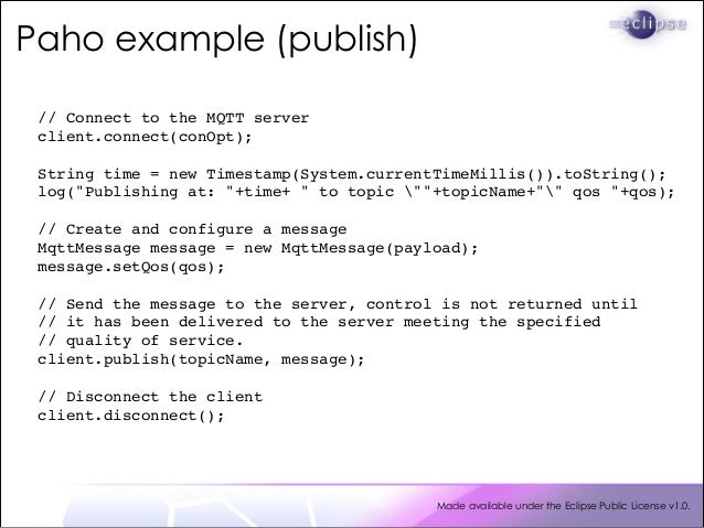 MQTT, Eclipse Paho and Java - Messaging for the Internet of