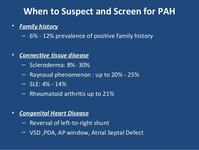 Pulmonary Arterial Hypertension In Pediatric Opd And Icu