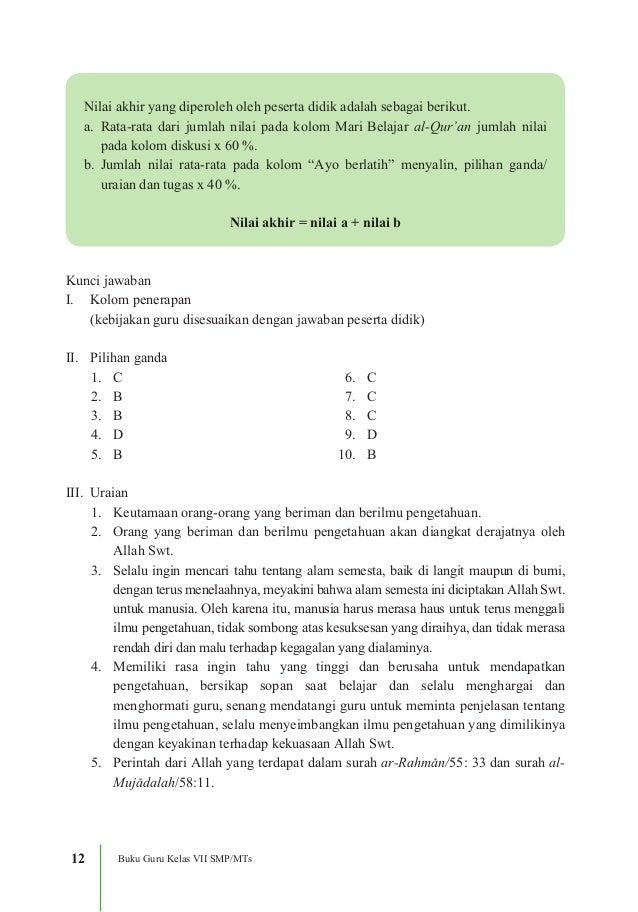 Kunci Jawaban Agama Islam Kelas 12 Bab 3 Guru Ilmu Sosial