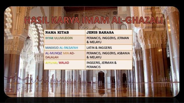 NAMA KITAB JENIS BAHASA IHYAK ULUMUDDIN PERANCIS, INGGERIS, JERMAN & MELAYU MAKASID AL-FALSAFAH LATIN & INGGERIS AL-MUNQIZ...