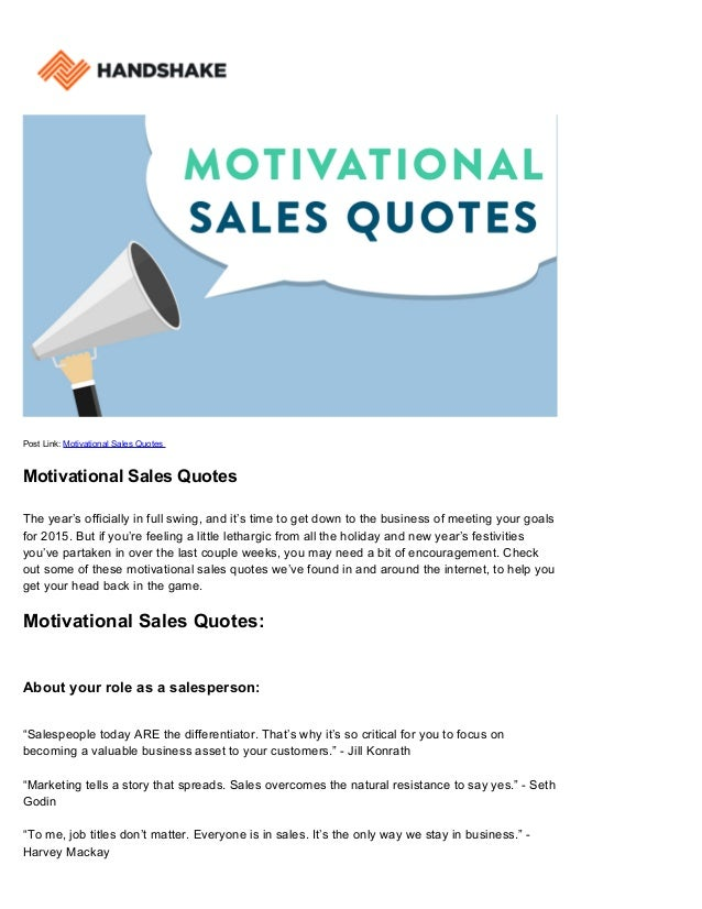 motivational sales quotes handshake