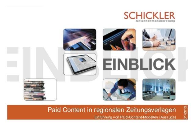 SCHICKLER - Ihr Partner für VermarktungsoptimierungIdentifikation von Leistungs- und KostenpotenzialenHamburg, Januar 2013...