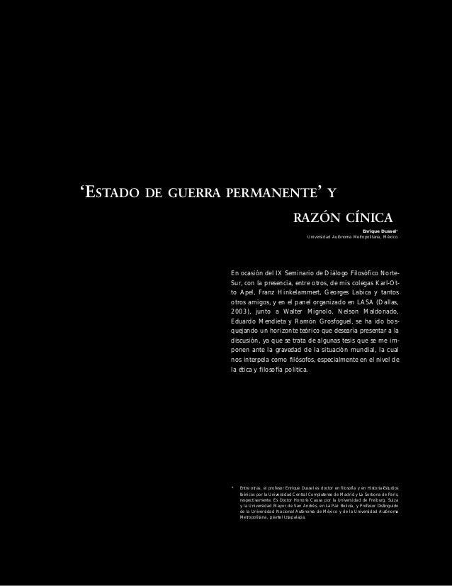 """TEORÍA • Paideia 5 E n r i q u e D u s s e l 1. Algo de geopolítica después del 1989 Desde el """"Derrumbe de la Unión Soviét..."""