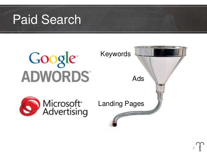 Paid Search              Keywords     .                         Ads              Landing Pages                            ...