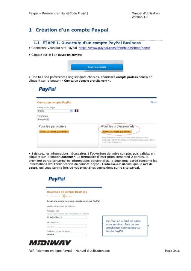 Paiement en ligne paypal manuel d 39 utilisation - Paiement plusieurs fois paypal ...