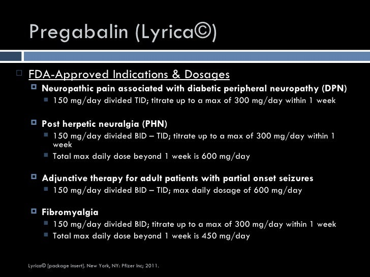 maximum dose of pregabalin for pain