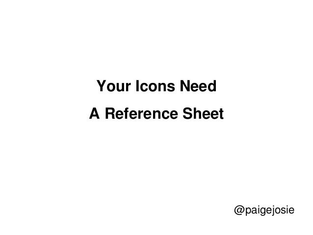 Your Icons Need A Reference Sheet @paigejosie