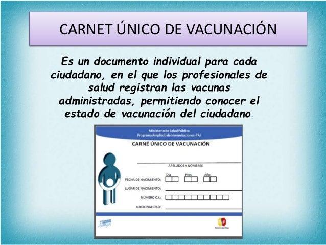 Resultado de imagen para Carnet Único de Vacunación