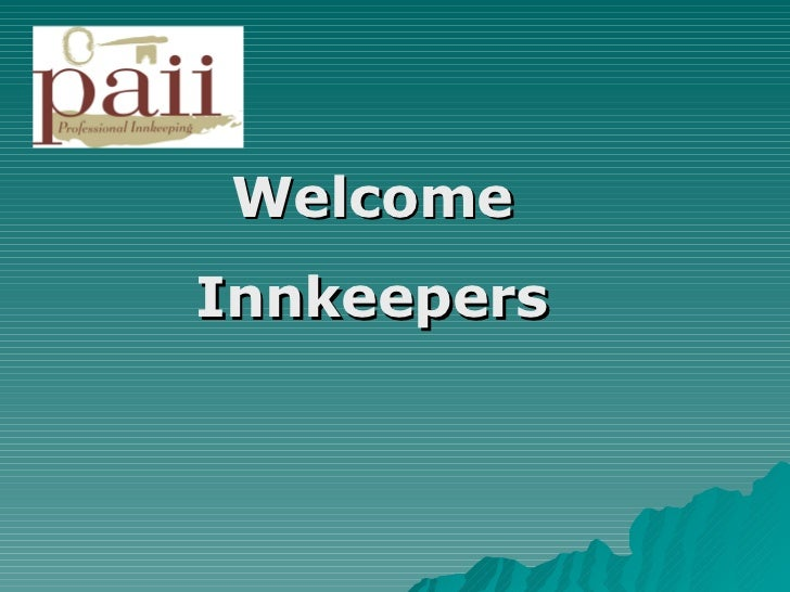 Welcome Innkeepers