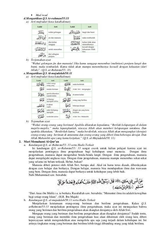 Rpp Pendidikan Agama Islam Budi Pekerti Paibp Smp Kelas Vii