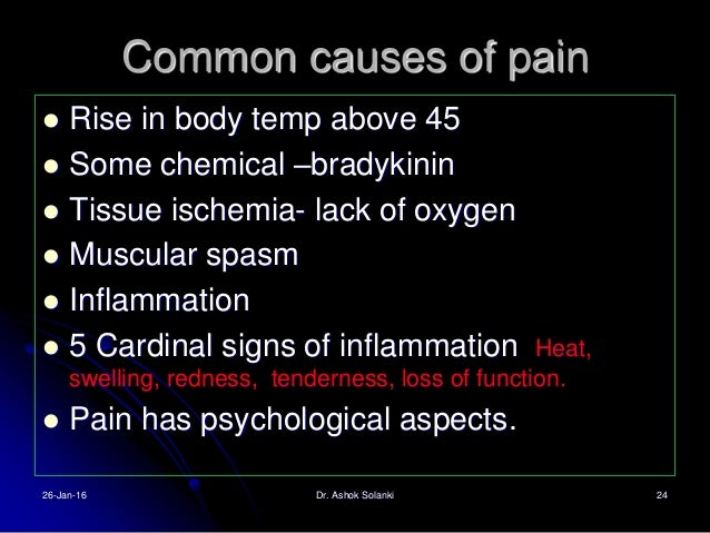 Pain has dual pathways 1. The sharp fast pain pathway 2. Slow – chronic pain pathway. 3. Fast by small type A delta fiber ...