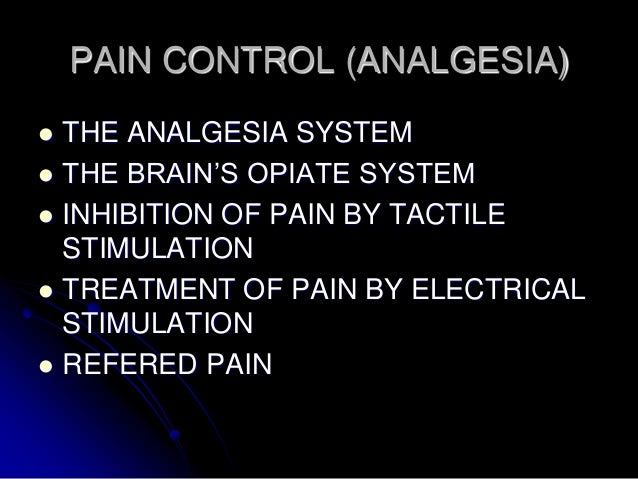 Distribution of Referred Pain