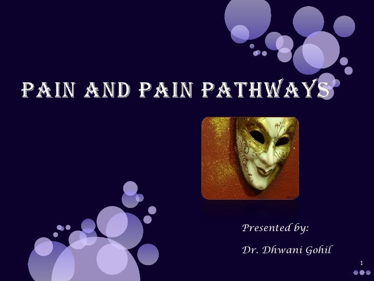PAIN AND PAIN PATHWAYS<br />1<br />Presented by:<br />Dr. Dhwani Gohil<br />