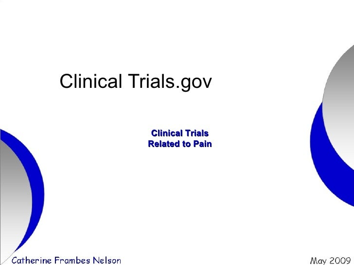 Clinical Trials.gov Clinical Trials Related to Pain
