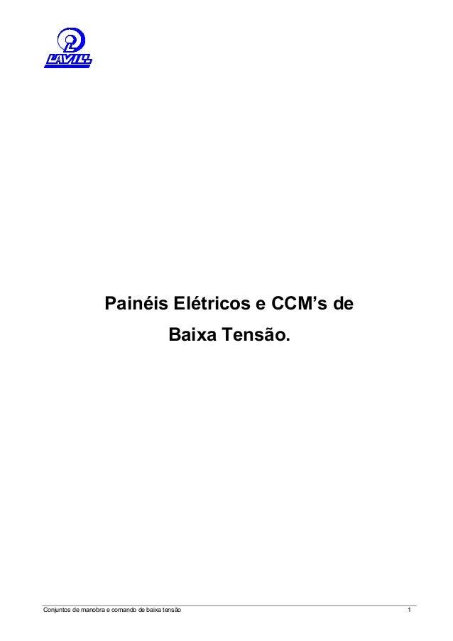 Painéis Elétricos e CCM's de  Baixa Tensão.  Conjuntos de manobra e comando de baixa tensão 1