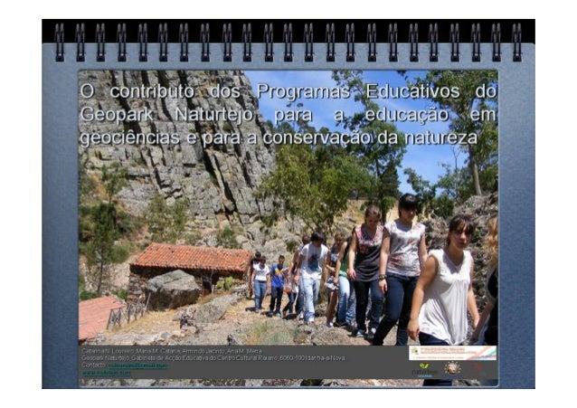 Painel1 - O contributo dos programas educativos do Geopark Naturtejo para a Educação em Geociências e para a Conservação d...