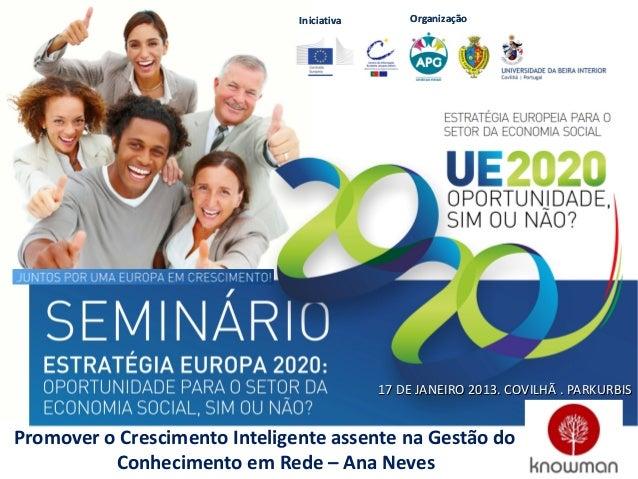Iniciativa       Organização                                            17 DE JANEIRO 2013. COVILHÃ . PARKURBISPromover o ...