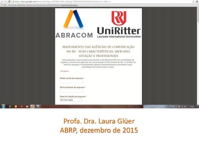 Profa. Dra. Laura Glüer ABRP, dezembro de 2015