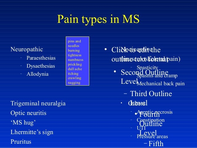 pain in ms