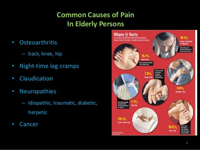 pain management in elderly Tailoring pain management in the long-term care setting cari levy, md, phd  tolerance for pain •elderly persons are likely to become addicted to pain.