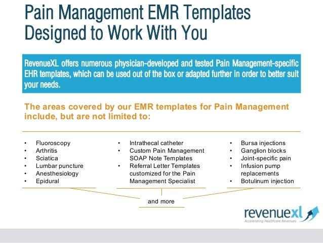 Pain management emr software for Pain management templates