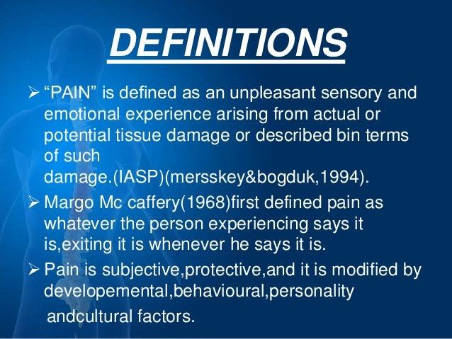 Pain management ppt