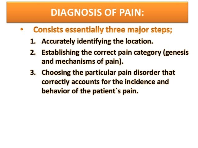 Pain pathway theories of pain