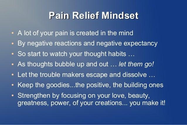 Pain Relief Mindset Slide 3