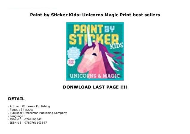 Paint by Sticker Kids Unicorns /& Magic